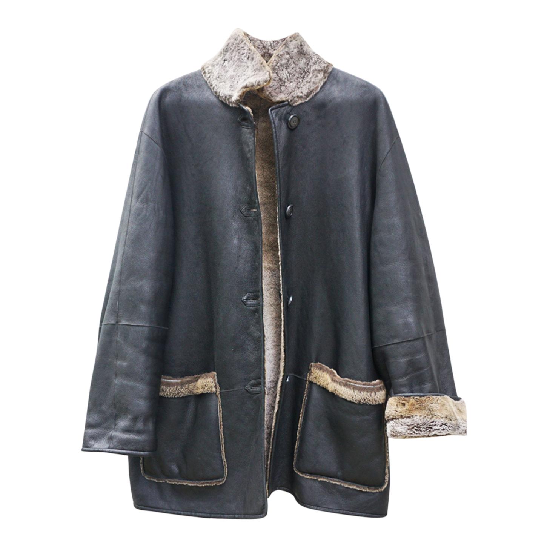 Manteau en peau lainée réversible
