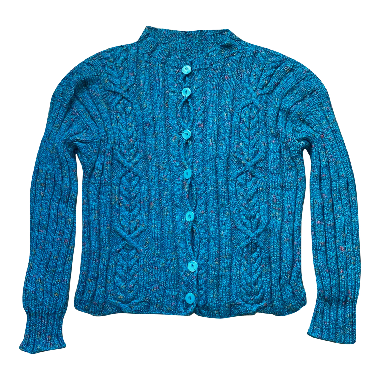 Cardigan bleu turquoise