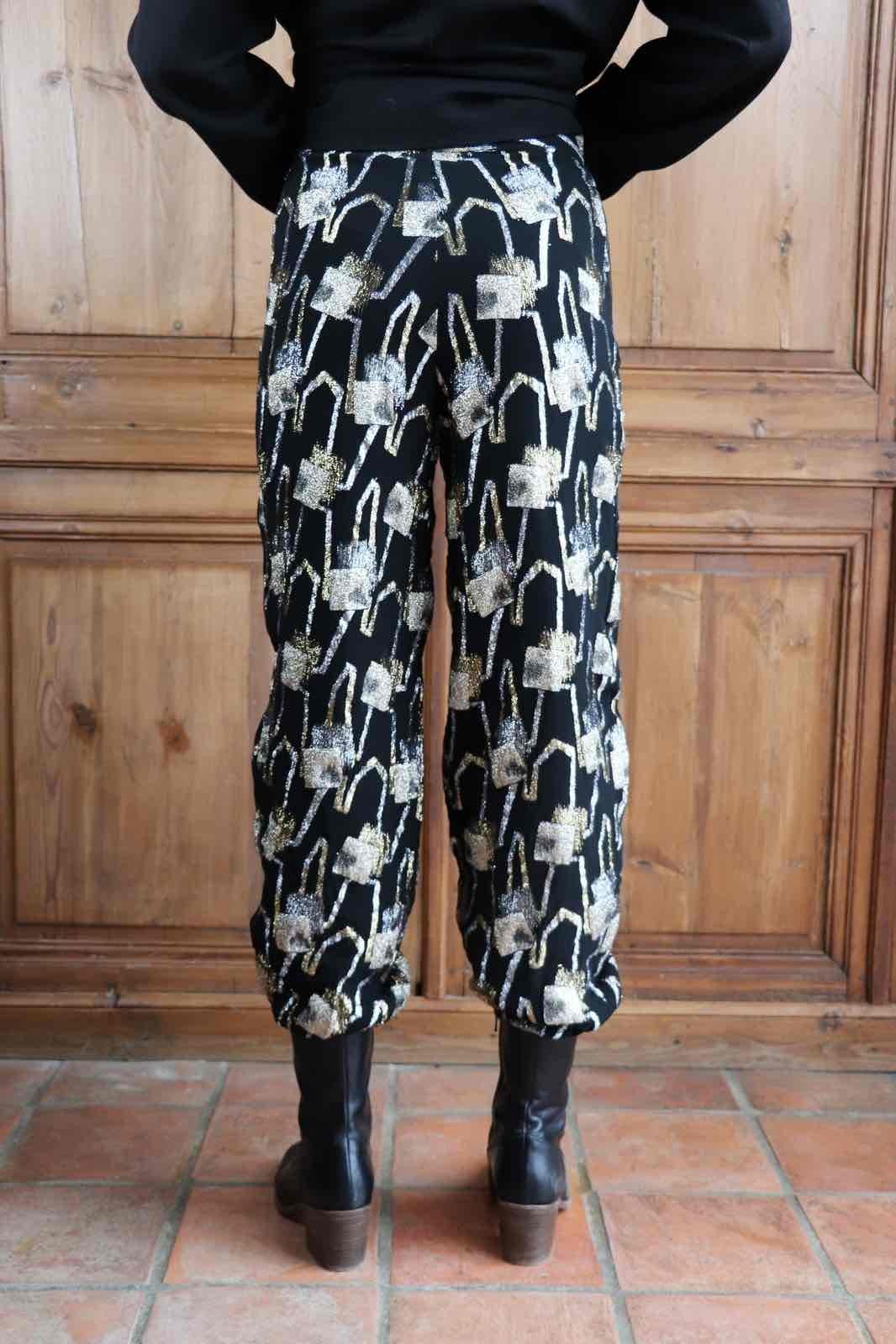 Pantalon en lurex
