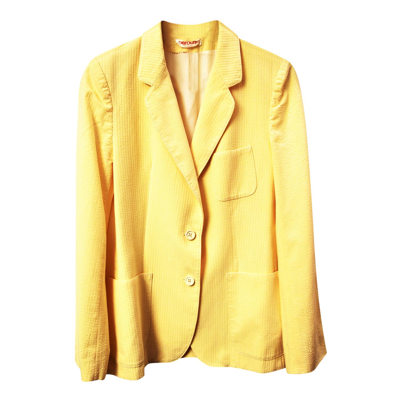 Blazer jaune pastel