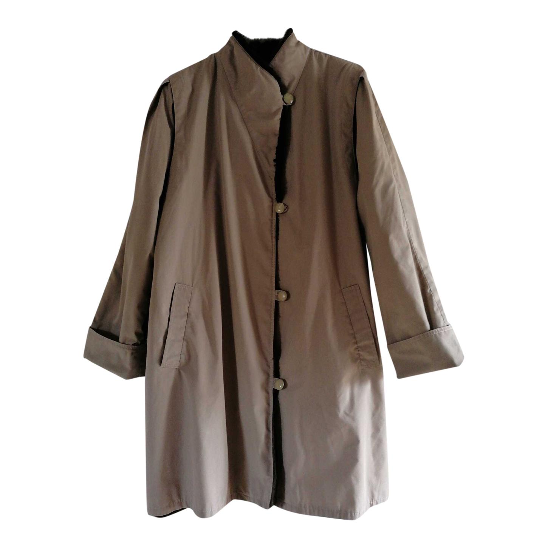 Manteau beige fourré