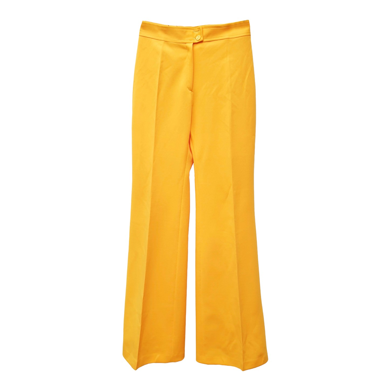 Pantalon flare jaune