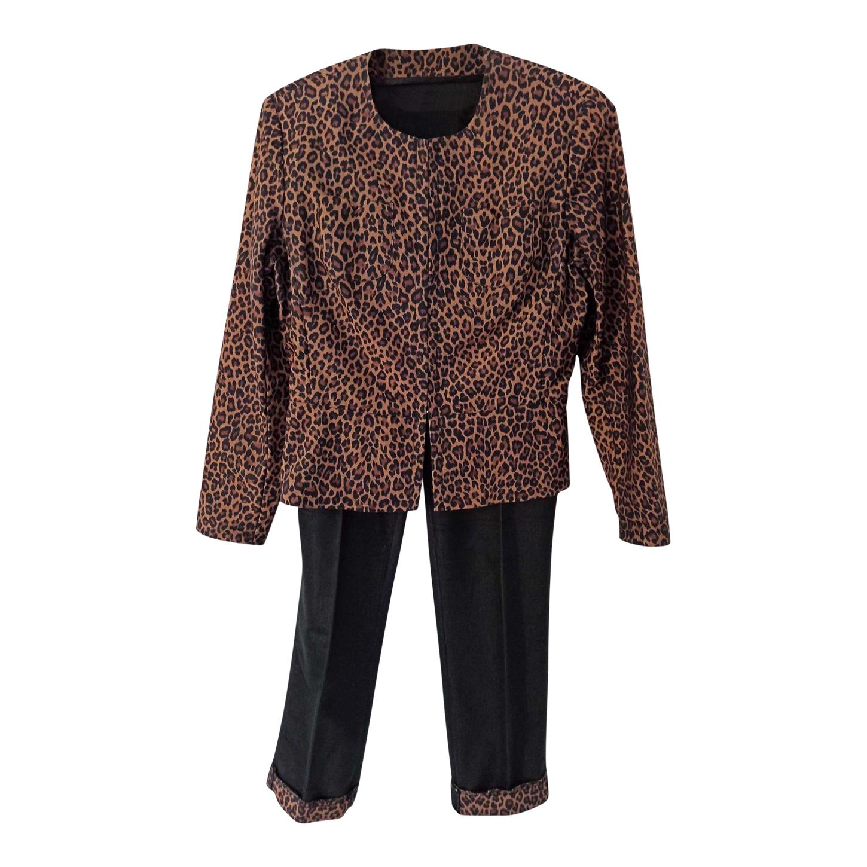 Tailleur pantalon léopard