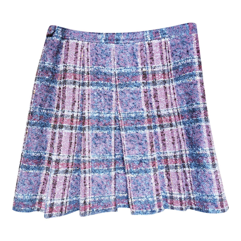 Mini jupe en tweed