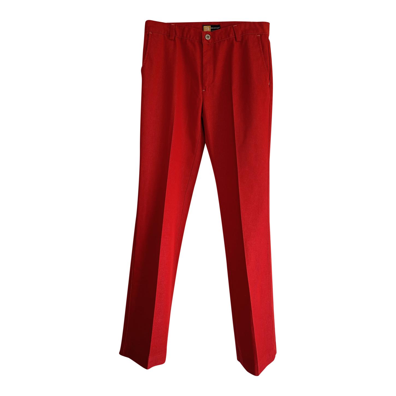 Pantalon flare rouge