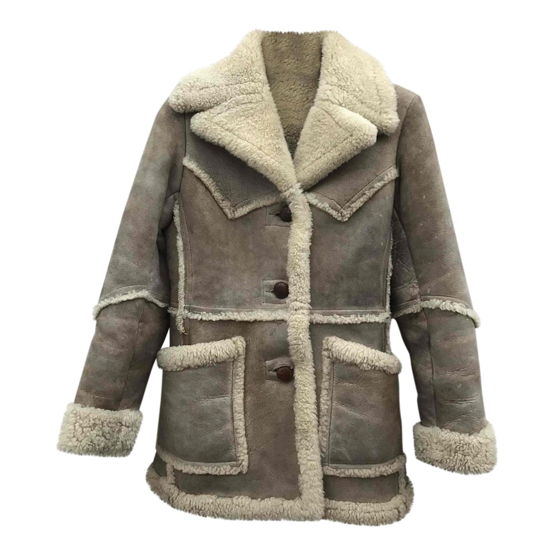 Manteau en peau lainée 70s