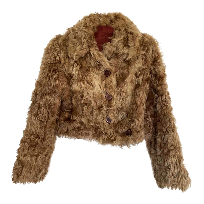 Manteau en agneau de Mongolie