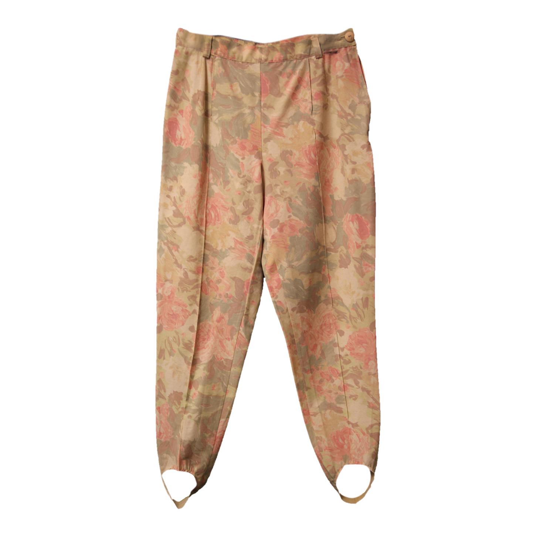 Pantalon fuseau à fleurs