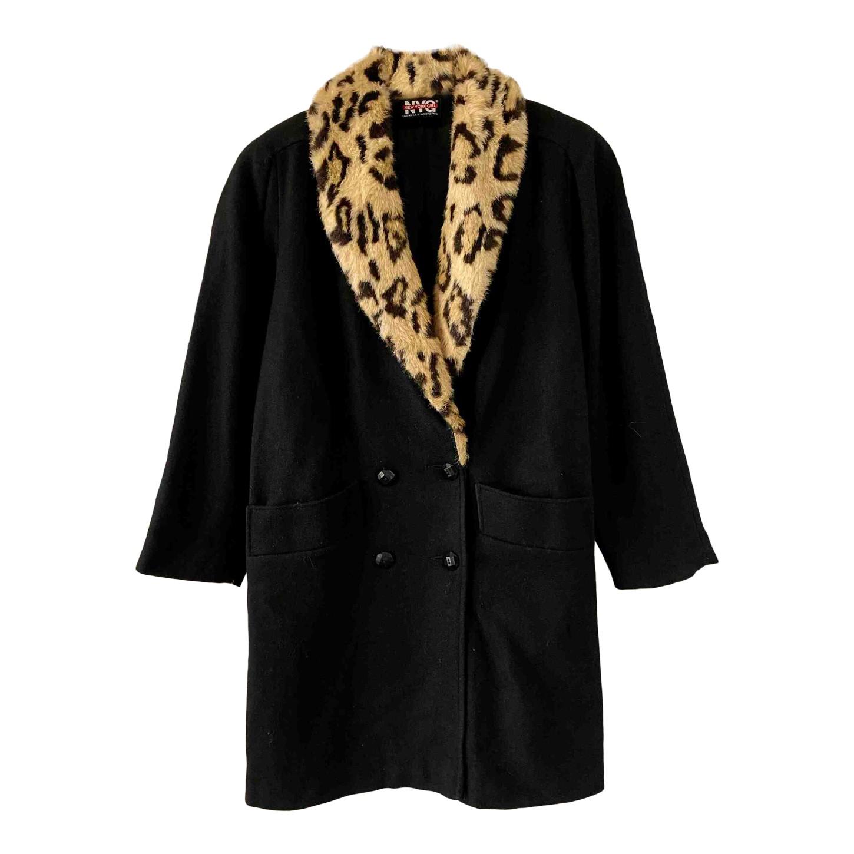 Manteau à col léopard