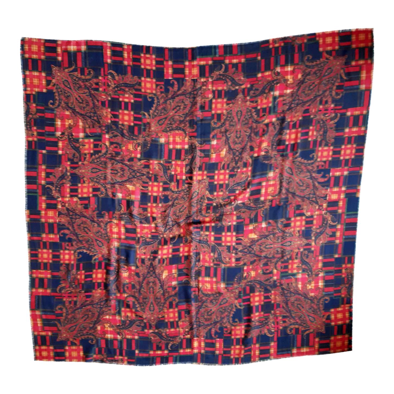 Foulard en laine et soie