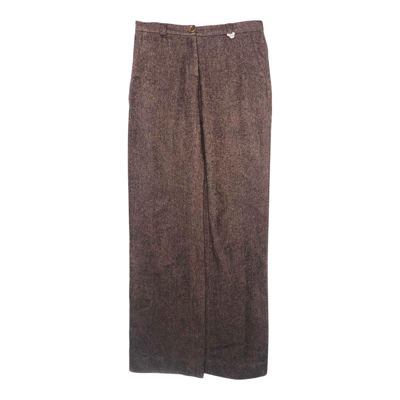 Pantalon en laine et coton