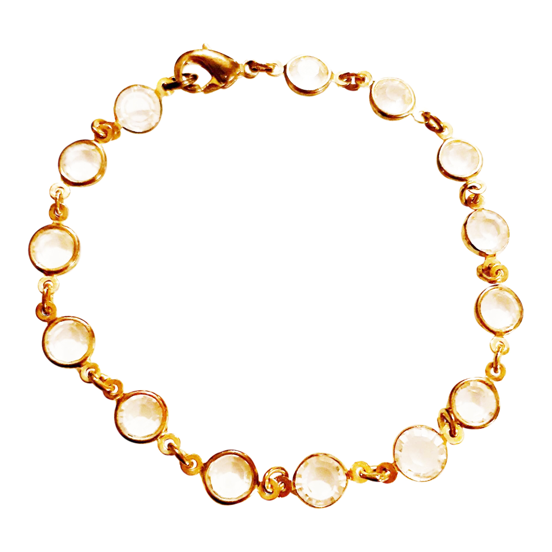 Bracelet en métal et verre