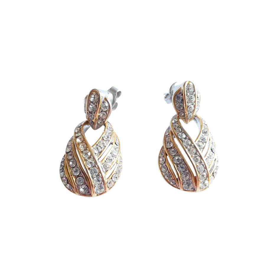 Boucles d'oreilles métal et strass