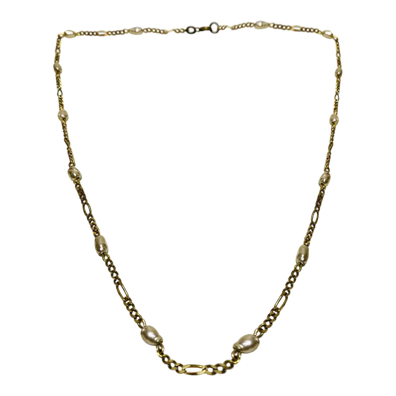 Collier chaîne et perles