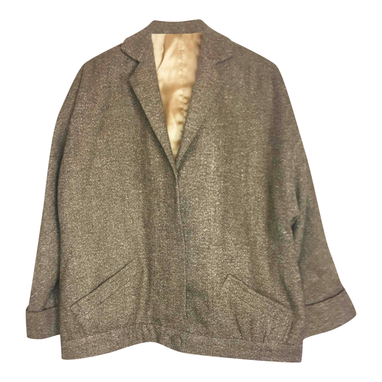 Veste longue en tweed