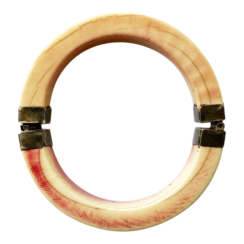 Bracelet en ivoire et argent