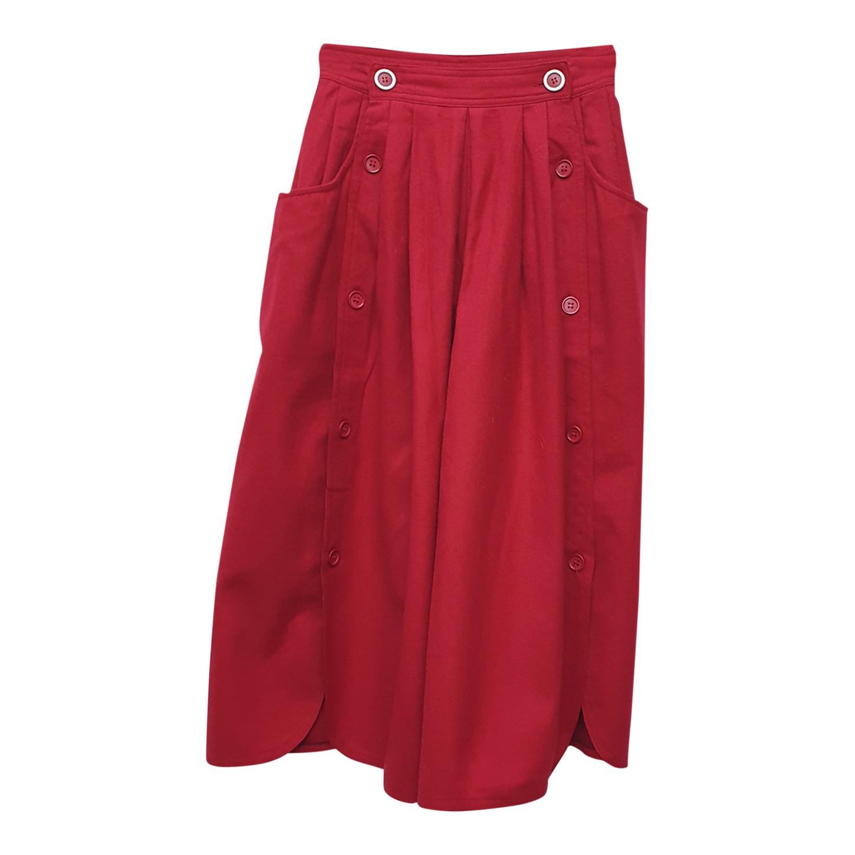 Jupe culotte bordeaux