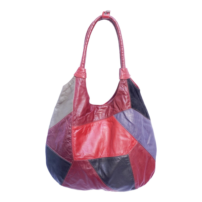 Grand sac en patchwork de cuir