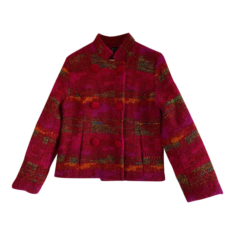 Cardigan en laine multicolore
