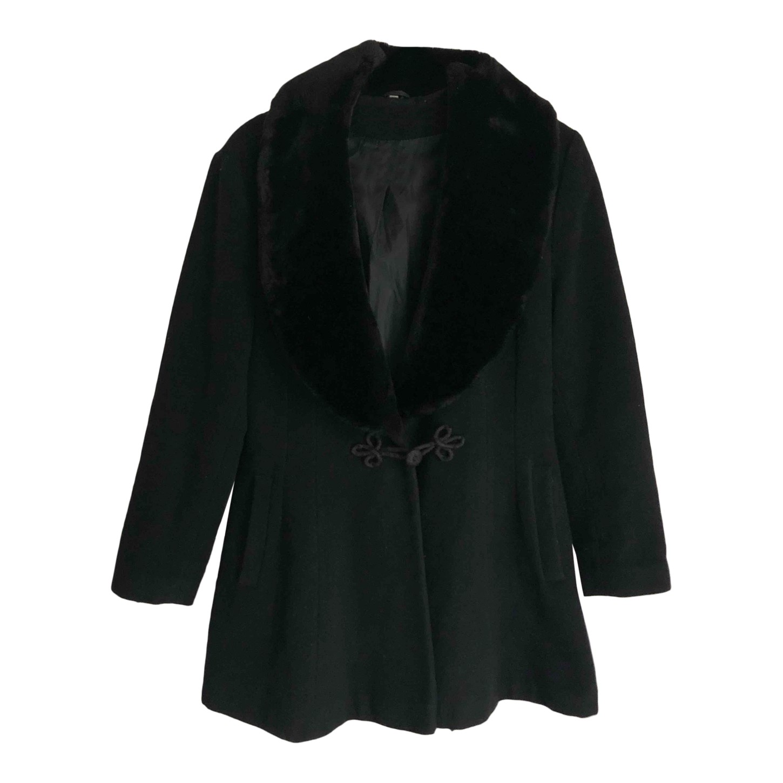 Manteau à col en fausse fourrrure