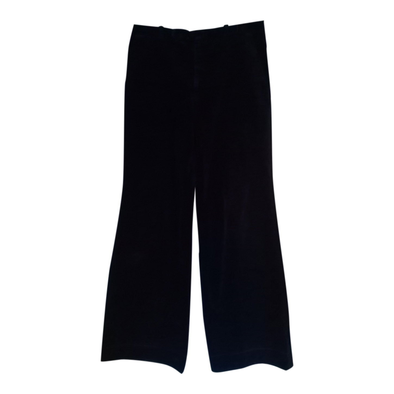 Pantalon flare en velours