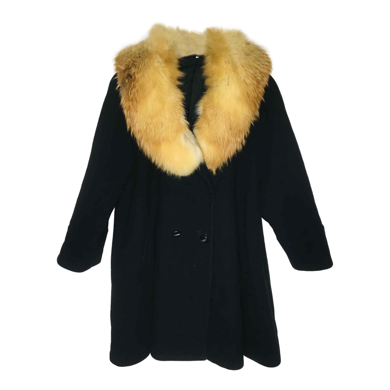 Manteau en laine et fourrure