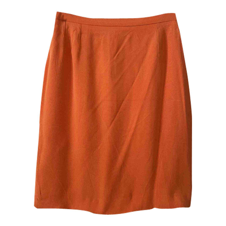 Jupe crayon orange