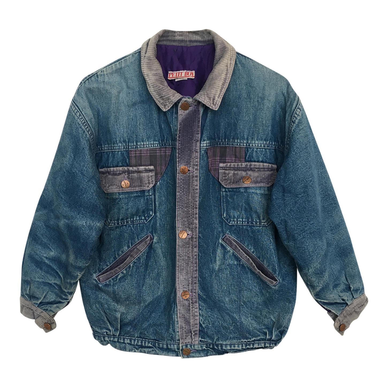 Veste en jean et velours côtelé
