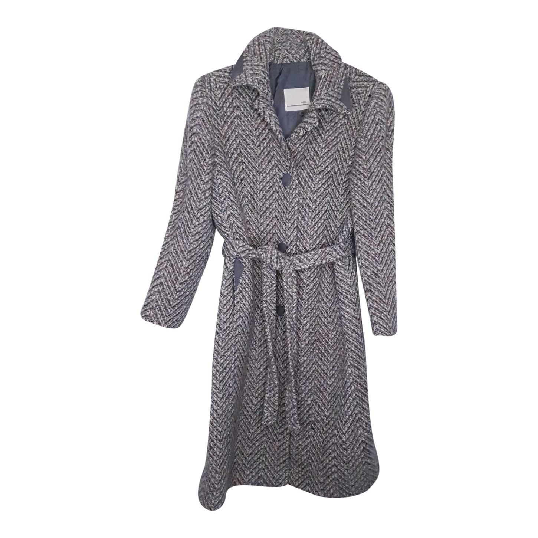 Manteau peignoir en laine