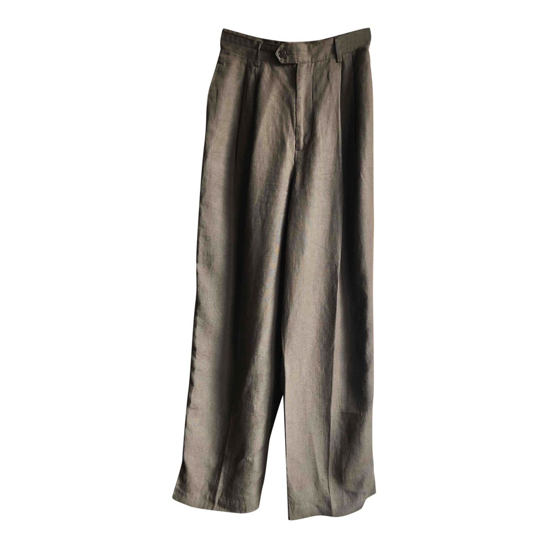 Pantalon à pinces en lin
