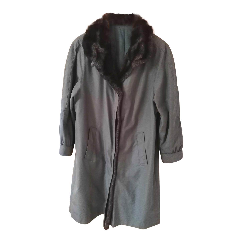 Manteau en coton et fausse fourrure