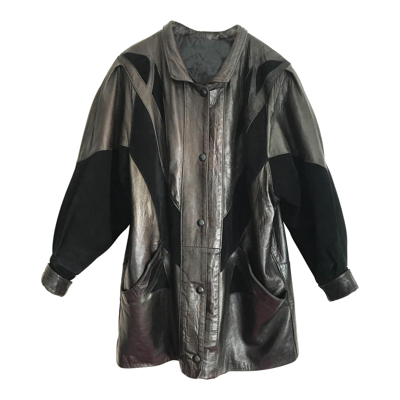 Manteau en cuir