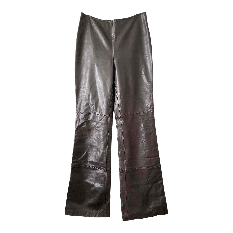 Pantalon flare en cuir