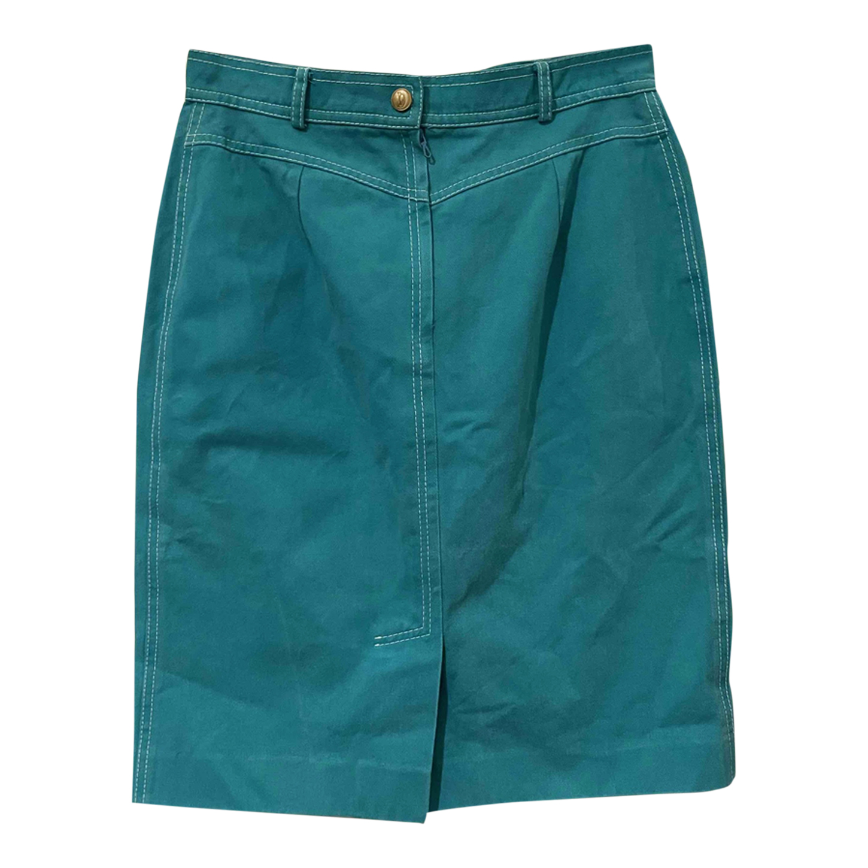 Jupe en jean turquoise