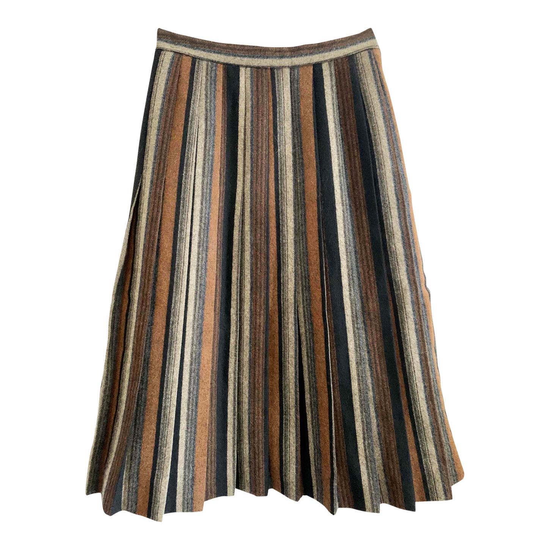 Jupe plissée en laine