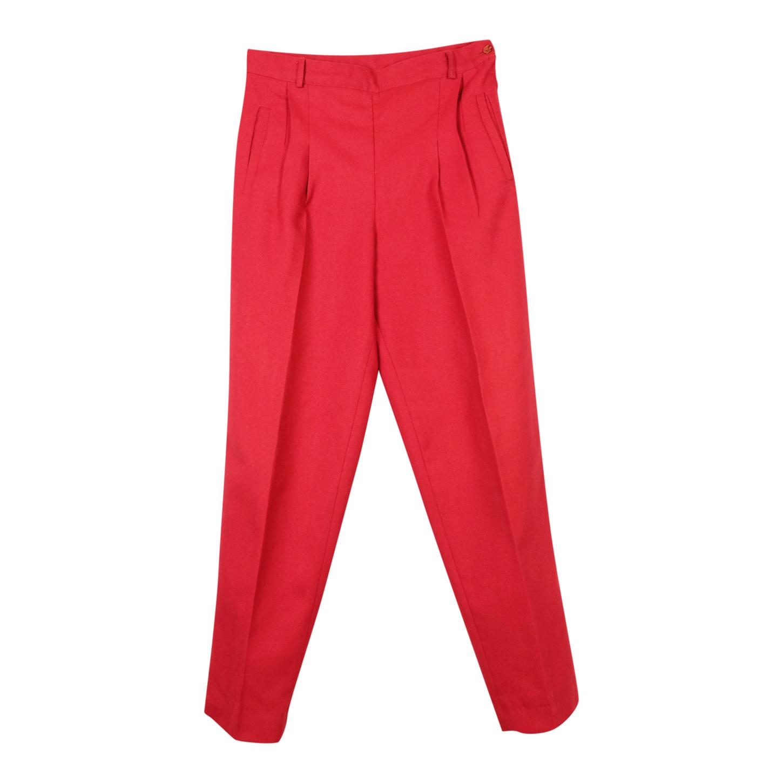 Pantalon rouge à pinces