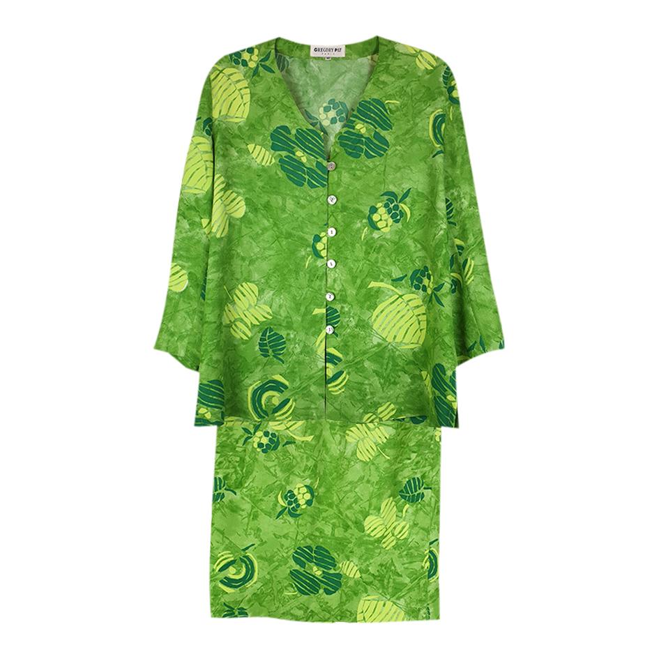 Tailleur jupe vert