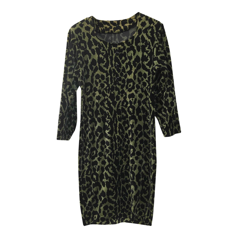 Robe en velours léopard
