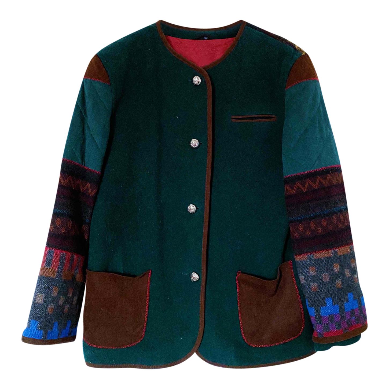 Manteau en patchwork de laine