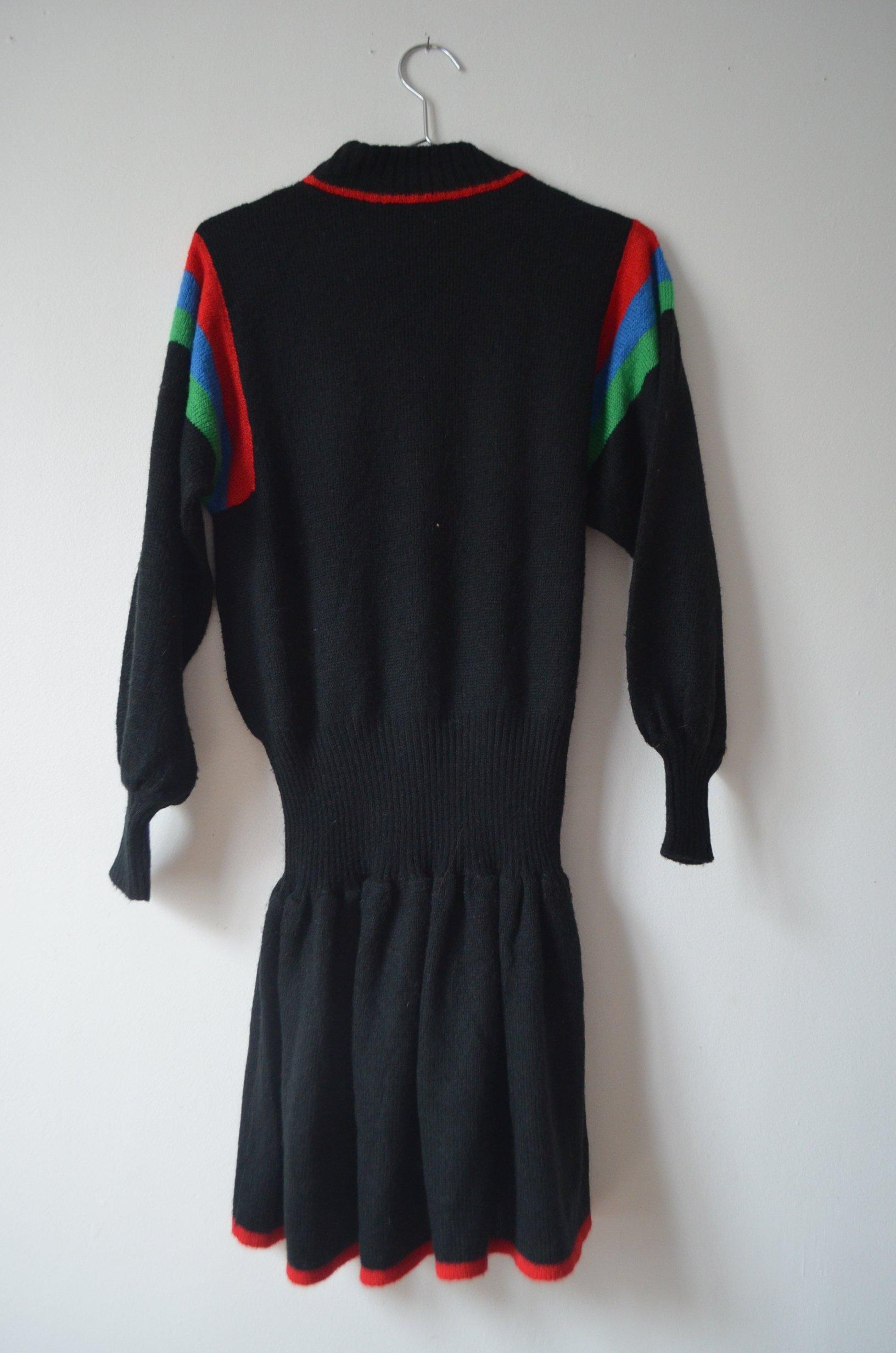 Robe en laine imprimée