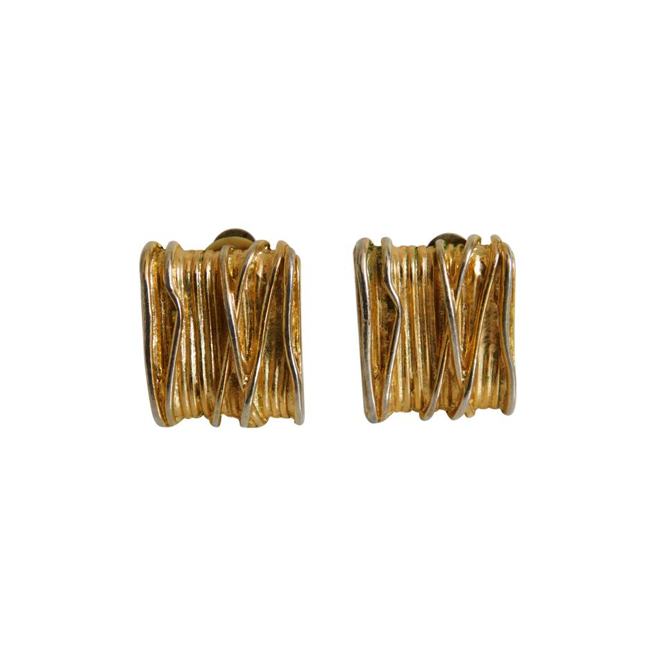 Boucles d'oreilles clips 80s