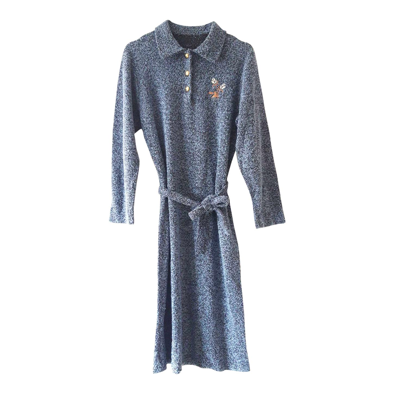 Robe ceinturée en laine