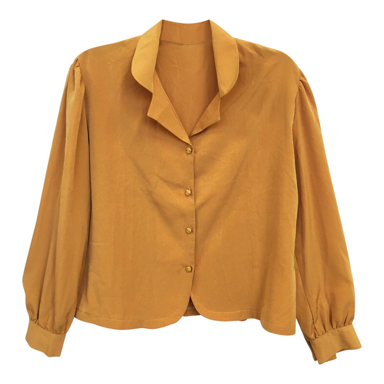 Chemise fluide dorée