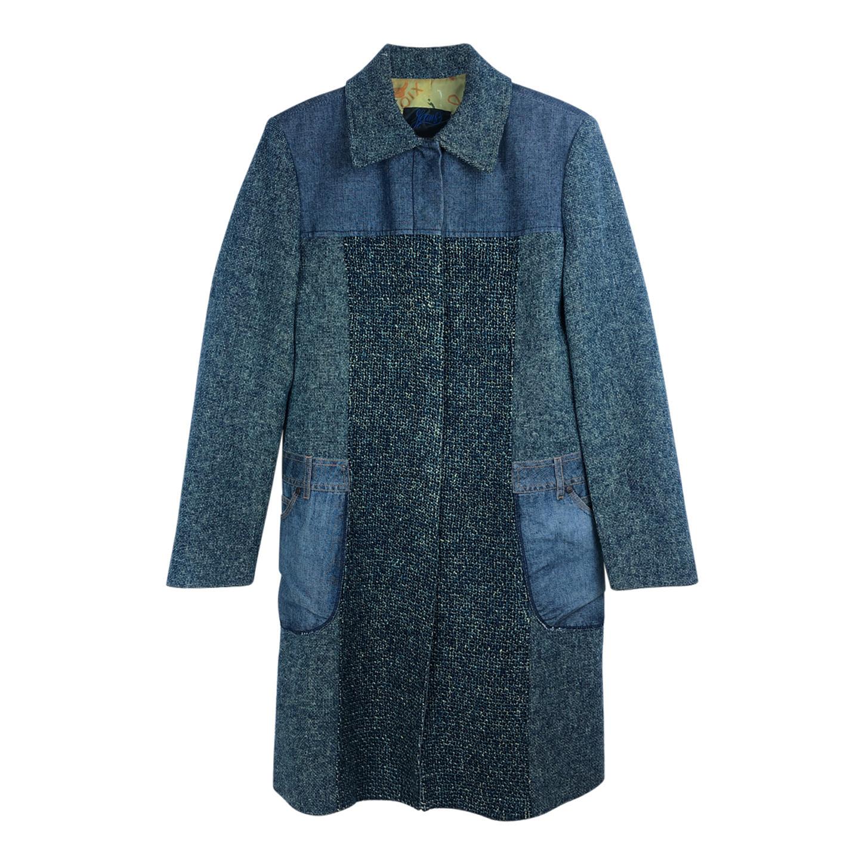 Manteau Christian Lacroix en tweed et jean