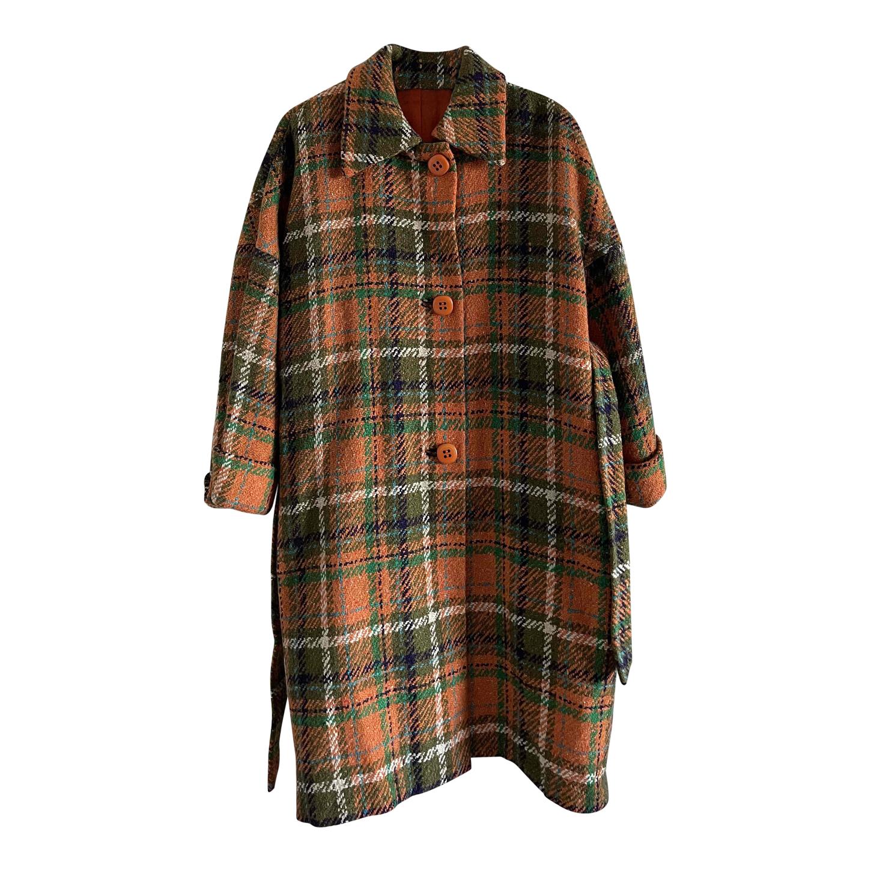 Manteau ceinturé en laine