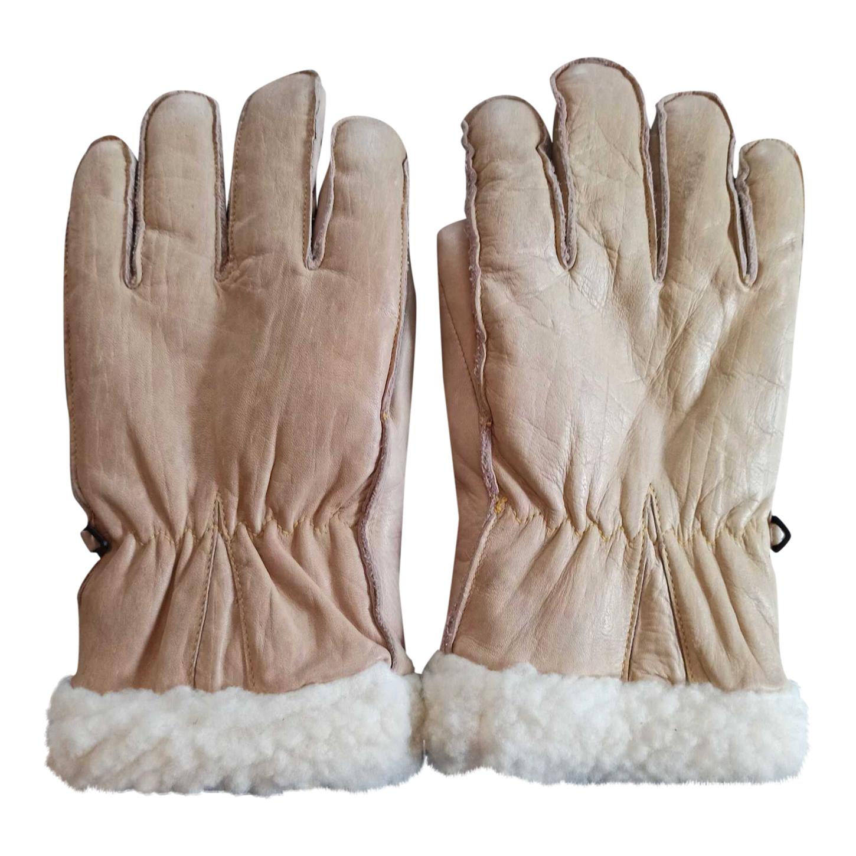 Gants en peau lainée