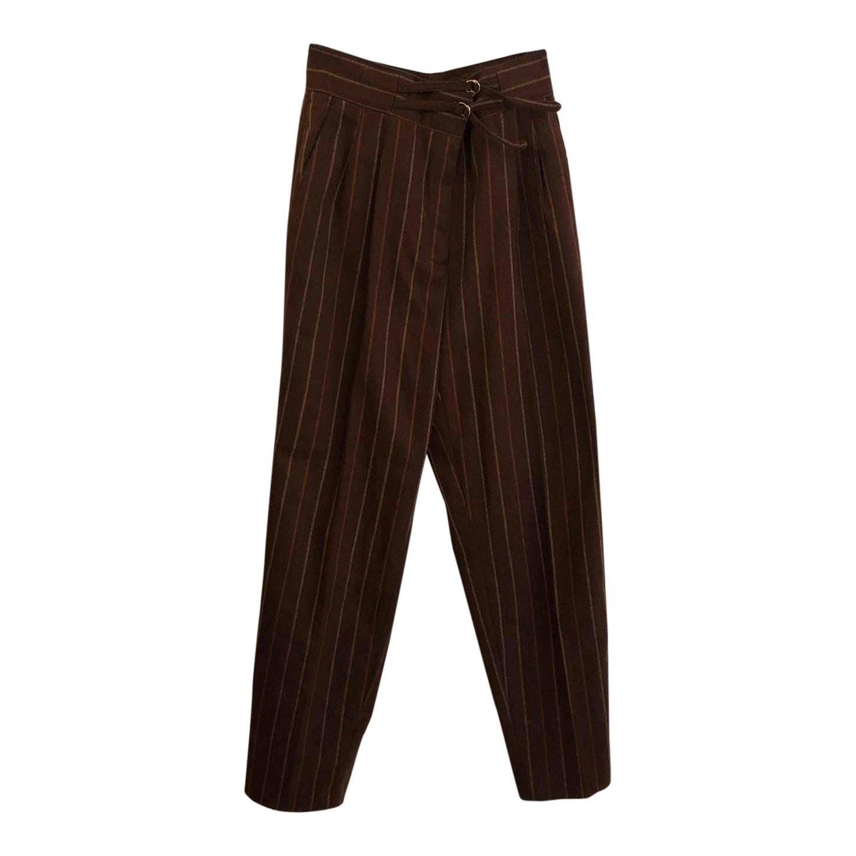 Pantalon en laine à rayures