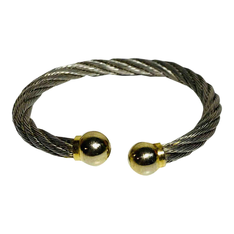 Bracelet jonc bicolore