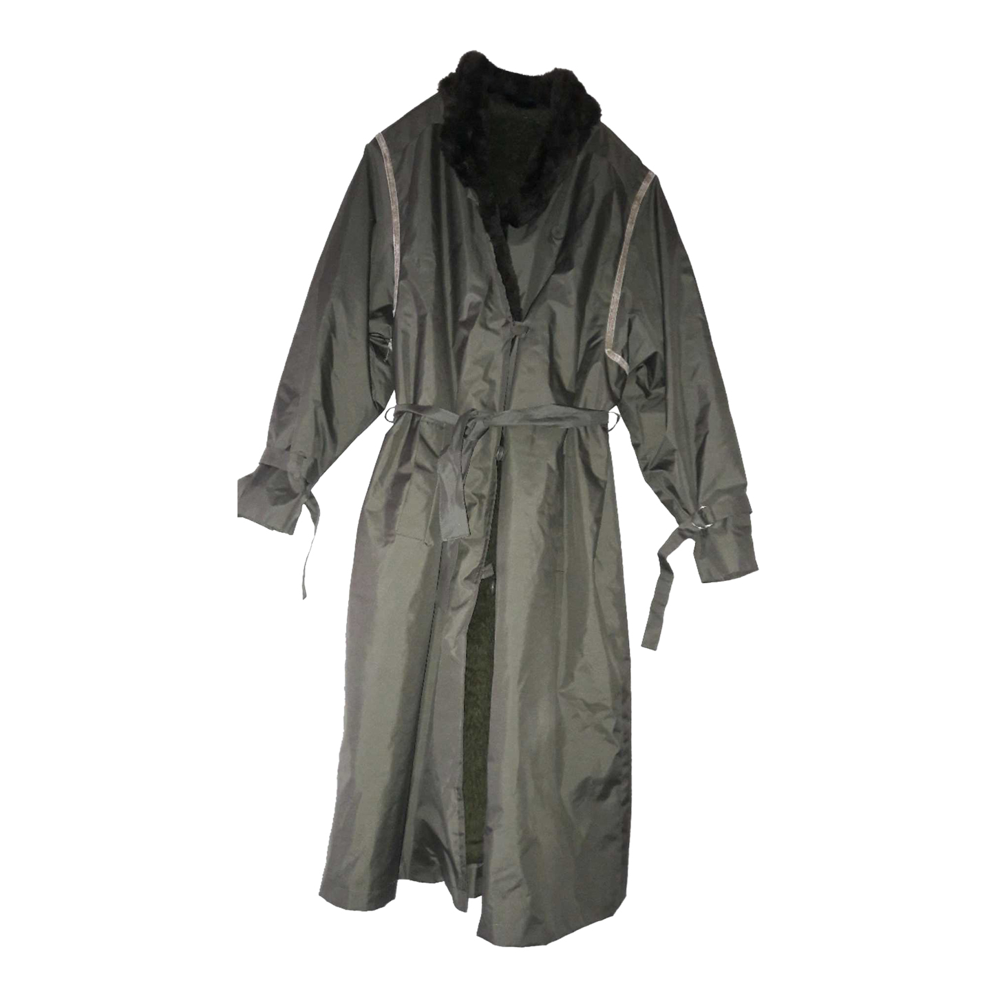 Trench col fausse fourrure