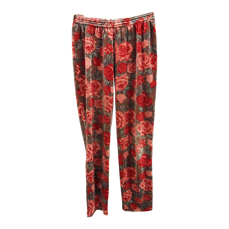Pantalon en velours imprimé
